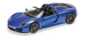 Porsche  - 918 Spyder 2013 blue - 1:87 - Minichamps - 870062138 - mc870062138 | The Diecast Company
