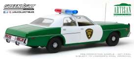 Plymouth  - Fury 1975 green/white - 1:18 - GreenLight - 19076 - gl19076 | The Diecast Company
