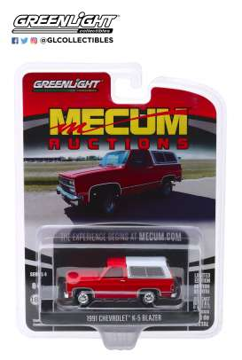 Chevrolet  - K5 Blazer 1991 red - 1:64 - GreenLight - 37190E - gl37190E | The Diecast Company