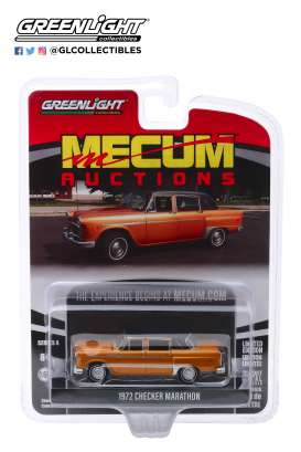 Checker  - Marathon 1972 brown - 1:64 - GreenLight - 37190F - gl37190F | The Diecast Company