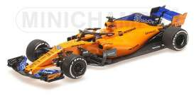 McLaren Renault - MCL33 2018 yellow-orange - 1:43 - Minichamps - 537186455 - mc537186455 | The Diecast Company