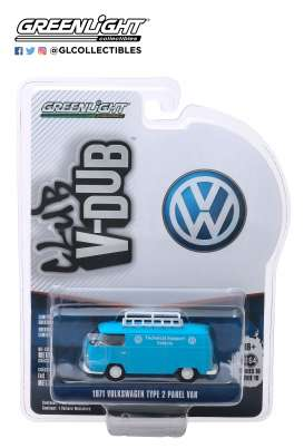 Volkswagen  - Panel 1971 blue/white - 1:64 - GreenLight - 29980A - gl29980A | The Diecast Company