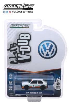 Volkswagen  - Golf 1974 blue/white/orange - 1:64 - GreenLight - 29980C - gl29980C | The Diecast Company