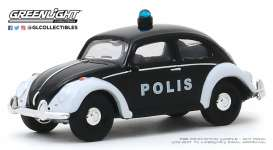 Volkswagen  - beetle white/black - 1:64 - GreenLight - 29980F - gl29980F | The Diecast Company