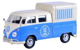 Volkswagen  - Type 2 blue - 1:24 - Motor Max - 79576 - mmax79576 | The Diecast Company