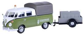 Volkswagen  - T2 pick-up green/white - 1:24 - Motor Max - 79676 - mmax79676 | The Diecast Company