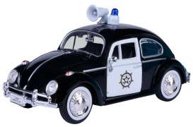 Volkswagen  - Beetle black/white - 1:24 - Motor Max - 79578 - mmax79578 | The Diecast Company