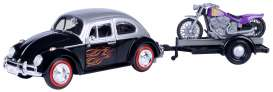Volkswagen  - Beetle black/silver - 1:24 - Motor Max - 79675 - mmax79675 | The Diecast Company