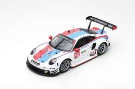 Porsche  - 911 RSR 2019 white/red/blue - 1:18 - Spark - 18US007 - spa18US007 | The Diecast Company