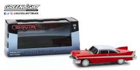 Plymouth  - Fury 1958 red/white - 1:43 - GreenLight - 86575 - gl86575 | The Diecast Company