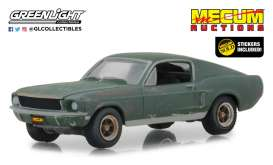 Ford  - Mustang GT 1968 green - 1:64 - GreenLight - 30136 - gl30136 | The Diecast Company