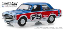 Datsun  - 510 1973 red/blue/white - 1:64 - GreenLight - 47040D - gl47040D-GM | The Diecast Company
