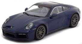 Porsche  - 911 2019 blue - 1:87 - Minichamps - 870068324 - mc870068324 | The Diecast Company