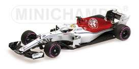 Alfa Romeo Sauber - C37 2018 white/red - 1:43 - Minichamps - 417180409 - mc417180409 | The Diecast Company