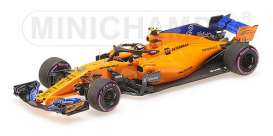 McLaren Renault - MCL33 2018 yellow-orange - 1:43 - Minichamps - 537186402 - mc537186402 | The Diecast Company