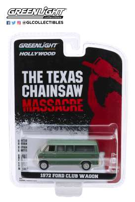 Ford  - Club Wagon 1972 green - 1:64 - GreenLight - 44870A - gl44870A | The Diecast Company