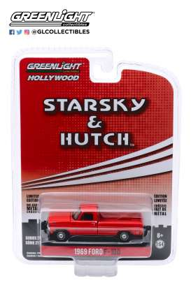 Ford  - F-100 1969 red - 1:64 - GreenLight - 44870B - gl44870B | The Diecast Company