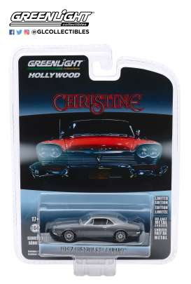 Chevrolet  - Camaro 1969 grey/black - 1:64 - GreenLight - 44870C - gl44870C | The Diecast Company