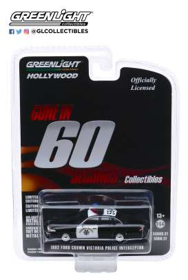 Ford  - Crown Victoria 1992 black/white - 1:64 - GreenLight - 44870E - gl44870E | The Diecast Company