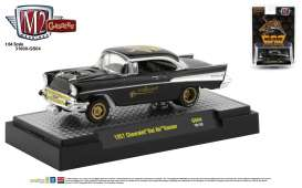 Chevrolet  - Bel Air Gasser 1957 black - 1:64 - M2 Machines - 31600GS04 - M2-31600GS04 | The Diecast Company