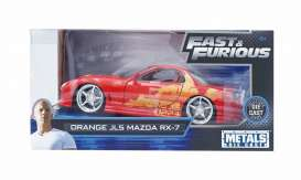 Mazda  - RX-7 F&F red/yellow - 1:24 - Jada Toys - 30747 - jada30747 | The Diecast Company