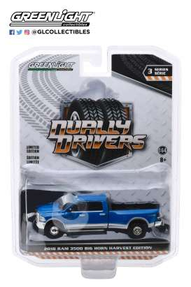Ram  - Harvest  2018 blue - 1:64 - GreenLight - 46030D - gl46030D | The Diecast Company