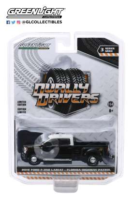 Ford  - F-350 2019 black/white - 1:64 - GreenLight - 46030E - gl46030E | The Diecast Company