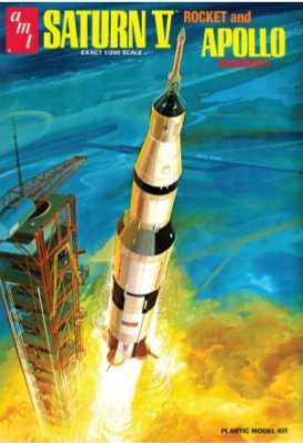 Saturn  - V Rocket  - 1:24 - AMT - s1174 - amts1174 | The Diecast Company