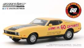 Ford Mustang - Mach 1 1973 yellow/black - 1:43 - GreenLight - 86571 - gl86571 | The Diecast Company