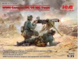 Figures diorama - WWII German MG08 MG Team  - 1:35 - ICM - 35645 - icm35645 | The Diecast Company