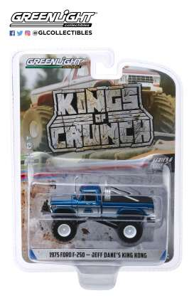 Ford  - F-250 Monster Truck 1975 blue - 1:64 - GreenLight - 49060B - gl49060B | The Diecast Company