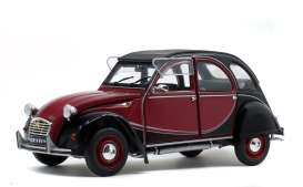 Citroen  - 2CV black/burgundy - 1:18 - Solido - 1805013 - soli1805013 | The Diecast Company