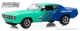 Chevrolet  - Camaro 1969 blue/green - 1:43 - GreenLight - 86343 - gl86343 | The Diecast Company