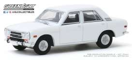 Datsun  - 510 1972 white - 1:64 - GreenLight - 47060B - gl47060B | The Diecast Company