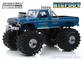 Ford  - F-250 Monster Truck 1974 blue - 1:18 - GreenLight - 13541 - gl13541 | The Diecast Company