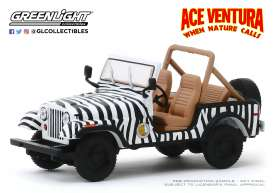 Jeep Mustang - CJ-7 1976 white/black - 1:43 - GreenLight - 86574 - gl86574 | The Diecast Company