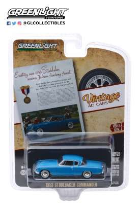 Studebaker  - Commander 1953 blue - 1:64 - GreenLight - 39030A - gl39030A | The Diecast Company