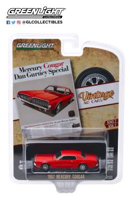 Mercury  - Cougar 1967 red - 1:64 - GreenLight - 39030B - gl39030B | The Diecast Company