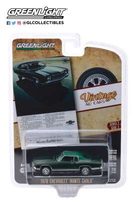 Chevrolet  - Monte Carlo 1970 green - 1:64 - GreenLight - 39030D - gl39030D | The Diecast Company