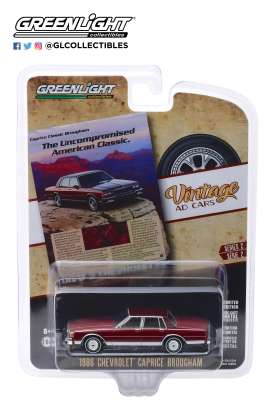 Chevrolet  - Caprice  1986 red - 1:64 - GreenLight - 39030F - gl39030F | The Diecast Company