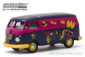 Volkswagen  - T2 Panel Van blue/yellow - 1:64 - GreenLight - 30126 - gl30126 | The Diecast Company
