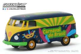 Volkswagen  - T2 Panel Van blue/green/yellow - 1:64 - GreenLight - 30127 - gl30127 | The Diecast Company