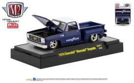 Chevrolet  - Silverado 1979 blue/white - 1:64 - M2 Machines - 31500MJS18 - M2-31500MJS18 | The Diecast Company