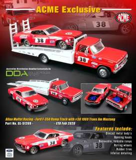 Ford  - Trans Am Mustang & Ramp Truck red/white - 1:64 - Acme Diecast - 51269 - acme51269 | The Diecast Company