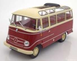 Mercedes Benz  - 1960 red/beige - 1:18 - Norev - 183410 - nor183410 | The Diecast Company