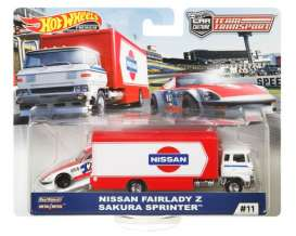 Nissan  - Fairlady Z & Sakura Sprinter red/white/blue - 1:64 - Hotwheels - FYT14 - hwmvFYT14 | The Diecast Company