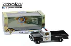 Ford  - F-100 1975 white/black - 1:18 - GreenLight - 13550 - gl13550 | The Diecast Company