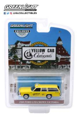 Ford  - LTD Crown Victoria yellow - 1:64 - GreenLight - 30122 - gl30122 | The Diecast Company