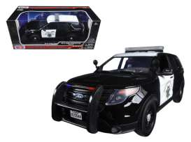 Ford  - 2015 black/white - 1:18 - Motor Max - 73544bk - mmax73544bk | The Diecast Company