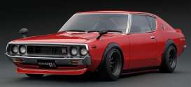 Nissan  - Skyline GT-R red - 1:18 - Ignition - IG1845 - IG1845 | The Diecast Company